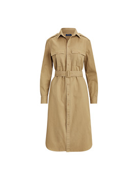 Cotton Twill Shirtdress by Ralph Lauren