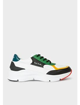 Men's Multi Colour Calf Leather 'explorer' Trainers by Paul Smith