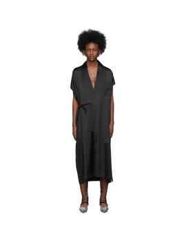 Black Stretch Satin Dress by Balenciaga