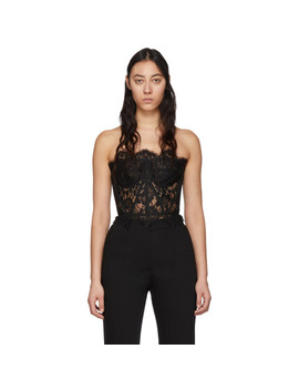 Black Lace Short Galloon Bustier by Dolce & Gabbana