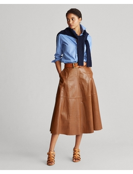 Lambskin A Line Skirt by Ralph Lauren
