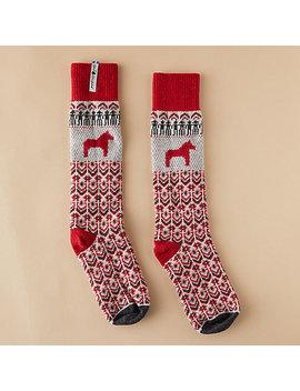 Wool Dalarna Horse Socks by Terrain
