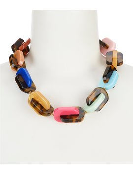 Be Bold Resin Chain Statement Necklace by Kate Spade New York