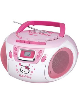Hello Kitty Kt2028 A Stereo Am/Fm/Cd Boom Box With Cassette Player/Recorder by Hello Kitty