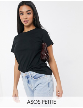 Asos Design Petite Ultimate Organic Cotton T Shirt With Crew Neck In Black by Asos Design