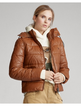 Belmont Leather Down Jacket by Ralph Lauren