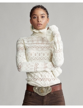 Pointelle Wool Sweater by Ralph Lauren