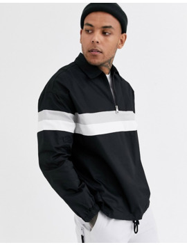 Bershka Half Zip Jacket In Black by Bershka's