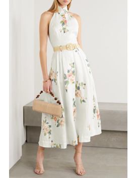 Kirra Linen Halterneck Midi Dress by Zimmermann