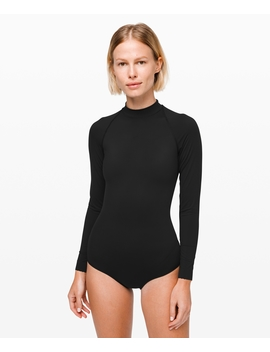 Will The Wave Long Sleeve Cheeky One Piece Online Only by Lululemon