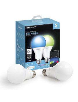 Merkury Innovations A21 Smart Light Bulb, 75 W Color Led, 2 Pack by Merkury Innovations