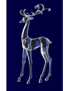 Icy Crystal Decorative Christmas Standing Deer Figure 25.3\ by Cc Christmas Decor
