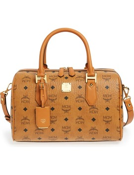 'medium Heritage Boston' Coated Canvas Satchel by Mcm