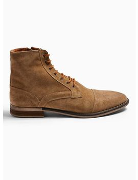 Tan Suede Sarge Boots by Topman