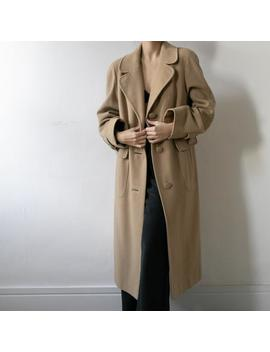 Vintage Wool And Cashmere Coat by Etsy