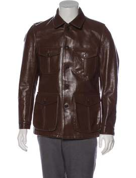 Leather Field Jacket by Woolrich