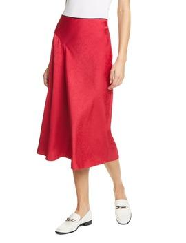 Letti Satin Jacquard Midi Skirt by Rag & Bone