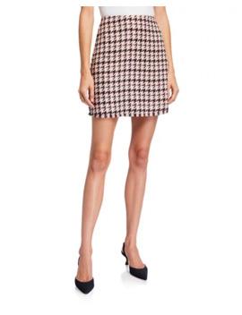 Bcb Generation Frayed Houndstooth Mini Skirt by Bcb Generation