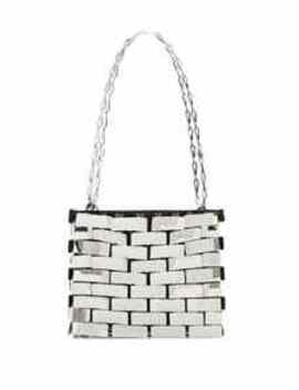 Chrome Square 1969 Medium Tote by Paco Rabanne