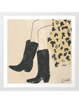 Western Boots Fashion Illustration Art Print by Society6