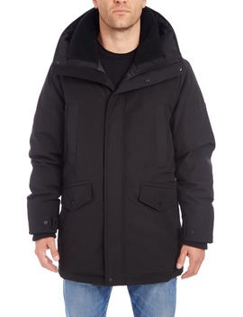 Parka With Faux Shearling Lined Hood by Vince Camuto