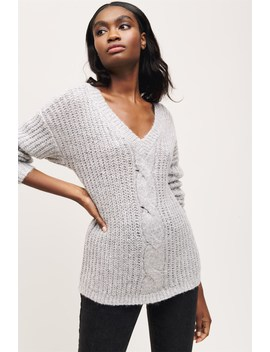 Noelle Cable Knit Sweater by Dynamite