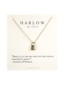 Harlow By Nashelle Lock Boxed Necklace by Nashelle