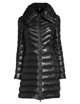 Faucon Chevron A Line Coat by Moncler