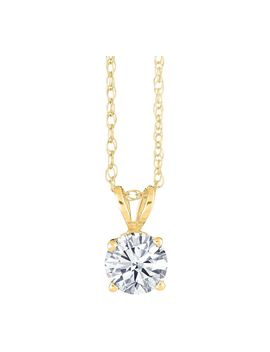 Affinity 1/2 Ct Round Diamond Pendant W/ Chain, 14 K Gold by Affinity(R) Diamond Jewelry