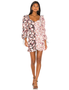 Houston Mini Dress In Black Floral by For Love & Lemons