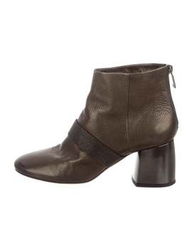 Monili Trimmed Ankle Boots by Brunello Cucinelli