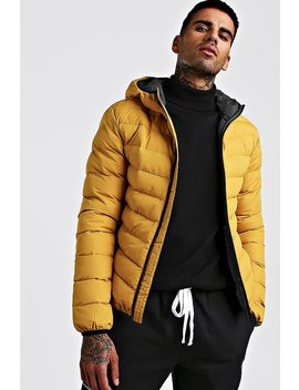 Quilted Hooded Jacket by Boohoo