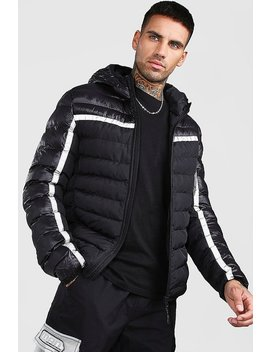 Quilted Reflective Jacket With Hood by Boohoo