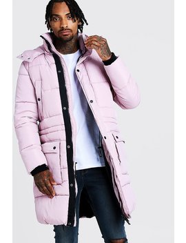 Hand Filled Longline Artic Puffer by Boohoo