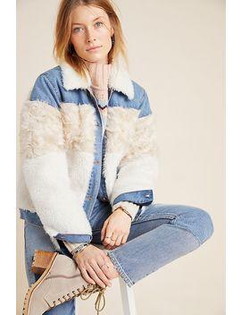 Rebecca Taylor Faux Fur Trimmed Denim Jacket by Rebecca Taylor