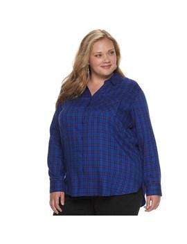 Plus Size Evri Button Down Shirt by Evri