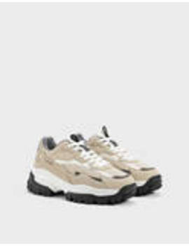 Men's Contrast Hiking Shoes by Bershka