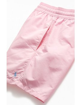 """Polo Ralph Lauren Pink Solid 17"""" Swim Trunks by Pacsun"""