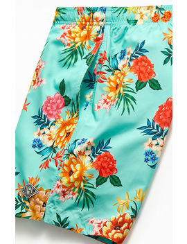 """Pac Sun May Flower 17"""" Swim Trunks by Pacsun"""