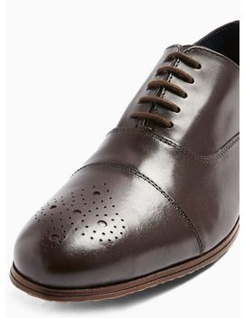 Brown Leather Ollie Oxford Shoes by Topman
