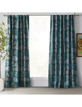 Tropical Toile Curtain Panel Pair By Drew Barrymore Flower Home by Drew Barrymore Flower Home