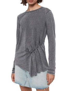 Duma Asymmetrical Long Sleeve Tee by Allsaints