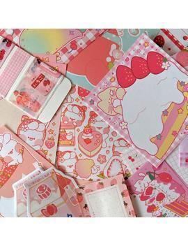 Strawberry & Cherry Stationery Set ! by Etsy