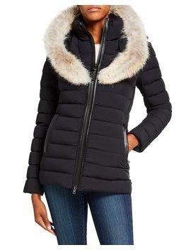 Kadalina Zip Up Coyote Fur Collar Coat by Mackage