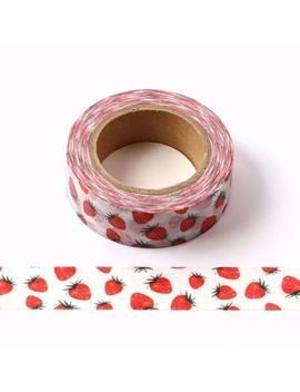Strawberry Washi Tape   Masking Tape   Korean Washi Tape   Deco Tape   Scrapbooking   Japanese Tape   Planner Sticker   Bullet Journal Fruit by Etsy