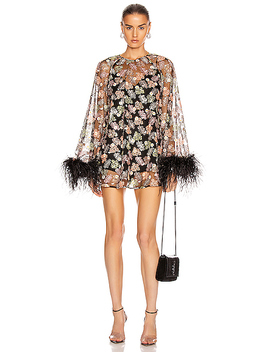 Celestial Creature Feather Swing Dress by Alice Mc Call
