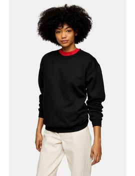 Black Oversized Everyday Sweatshirt by Topshop