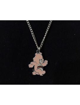 Pale Pink Care Bear Necklace Silver Plated Chain by Etsy