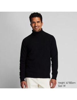 Men Premium Lambswool Turtleneck Jumper (19) by Uniqlo