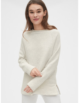 Textured Funnel Neck Tunic Sweatshirt by Gap